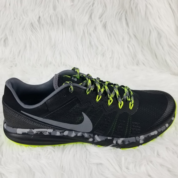 new product 1d844 ca5af Nike Dual Fusion Trail 2 Black Cool Gray Size 14